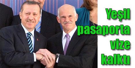 Yeşil pasaporta Yunan vizesi yok