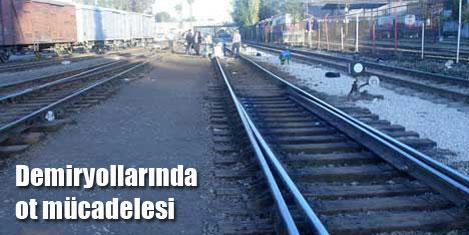 Demiryollarında ot mücadelesi