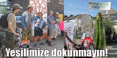 Yeşil alana markete karşı eylem