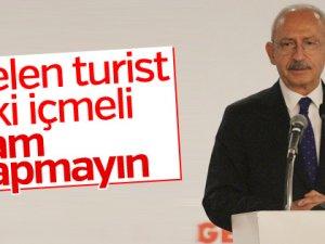 Kemal Kılıçdaroğlu,turizm politikasını eleştirdi
