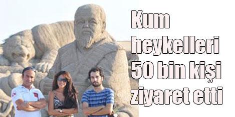 Kum heykellere turist akını
