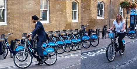 Londra'da bisikletli sayısı artıyor