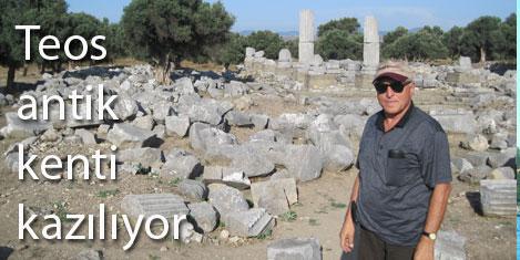 Teos antik kenti kazılıyor