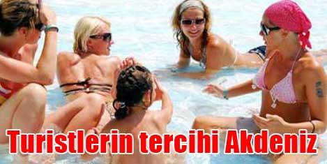 Turistlerin tercihi Akdeniz