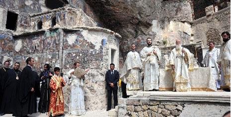 Sümela'da ilk kez ayin yapıldı