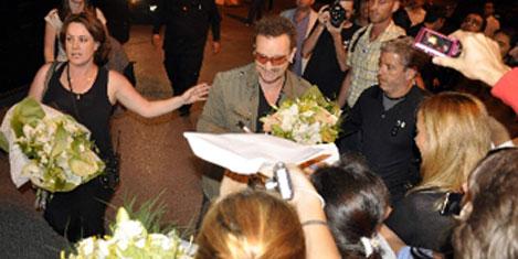 U2 grubu  İstanbul'da