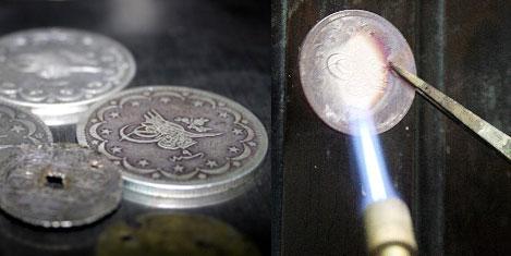 Osmanlı'nın paraları eritiliyor