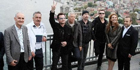 U2, Boğaz Köprüsü'nde yürüdü