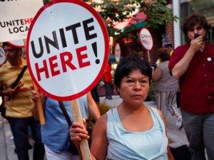 Marriott Otel'in binlerce işçisi eylemde