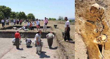 Bin yıllık infaz kazıda ortaya çıktı