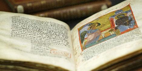 Bizans el yazmaları internette