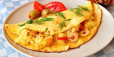 100 bin yumurtayla 6 ton omlet