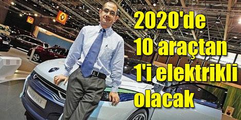 2020'de 10 araçtan 1'i elektrikli