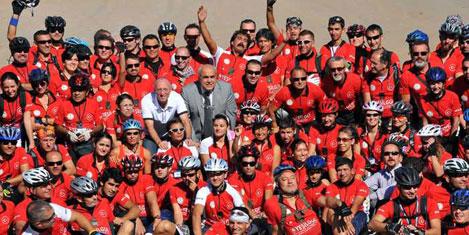 Türk-Yunan-ABD'li 175 bisikletçi,