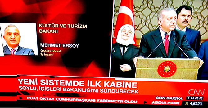 Kültür ve Turizm Bakanı, ETS'nin sahibi Mehmet Ersoy
