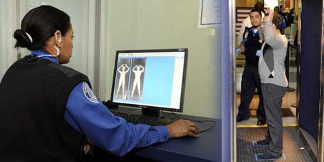 Çıplak gösteren X-ray kullanılıyor