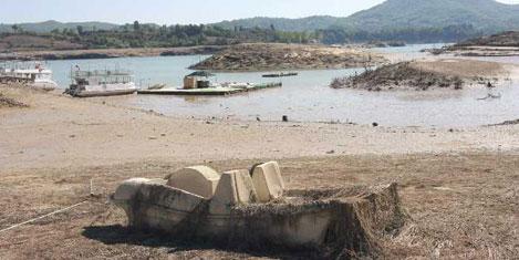 Manavgat Şelalesi'nde su çekildi