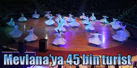 Konya 45 bin turist bekliyor