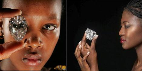 185 karat beyaz elmas bulundu