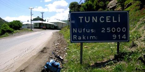 Borcuna en sadık il Tunceli