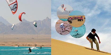 Mısır çölünde kum kayağı