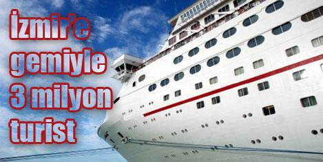 İzmir'e gemiyle 500 bin turist