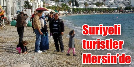 Mersin'e turistler akın etti