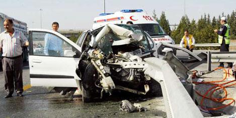 Türkiye trafik kazalarında üçüncü