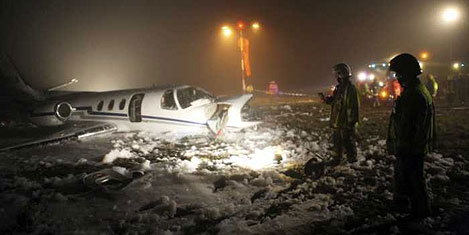 Uçak yandı, karaciğer kurtarıldı