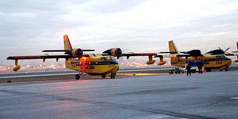 THK'de 21 yangın söndürme uçağı