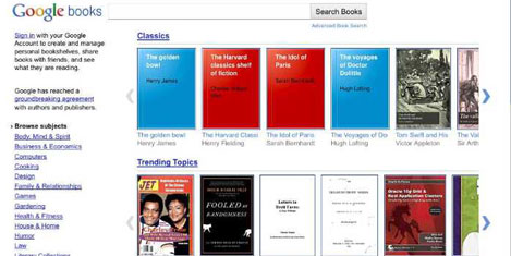 Google'ın online kitabevi yayında