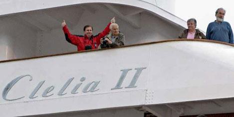 Clelia II adlı yolcu gemisi kurtarıldı.