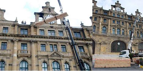 Haydarpaşa Garı'nda çatı inşaatı