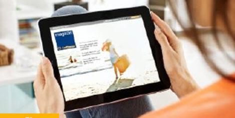 Lufthansa dergisi iPad'de