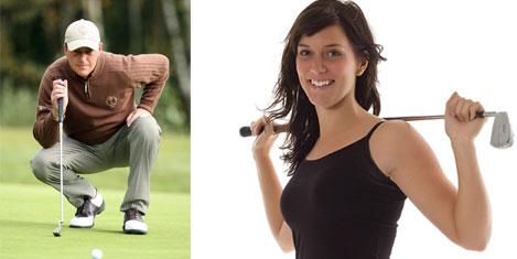 Sexy Golfçu Karin Calista'da