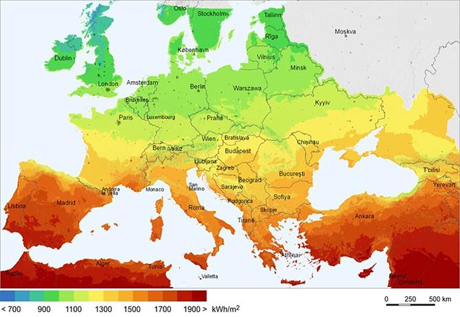 En az güneş enerjisi kullanan ülke, Türkiye