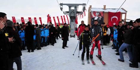 Abalı Kayak Merkezinde kar 70 cm