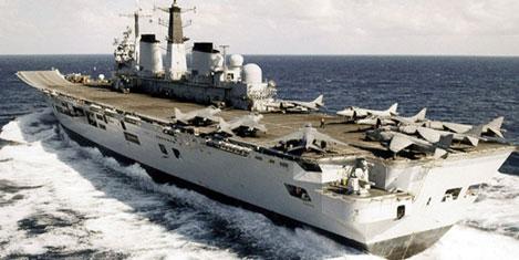 İngiliz uçak gemisi İzmirli firmada