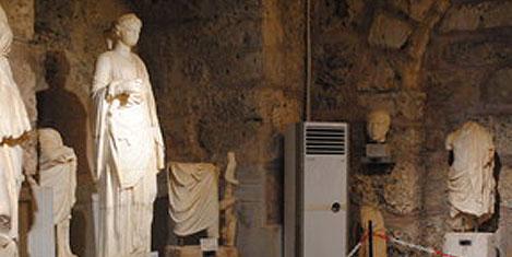 Side'deki tarihi eserlere klima