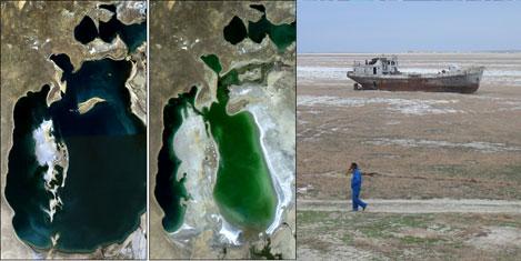 Dev Aral Gölü çölleşiyor