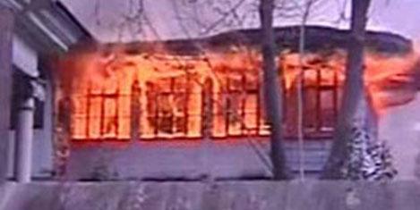 Tarihi Beyazıt Camii yanıyordu