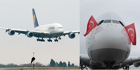 Lufthansa A380 İstanbul'da
