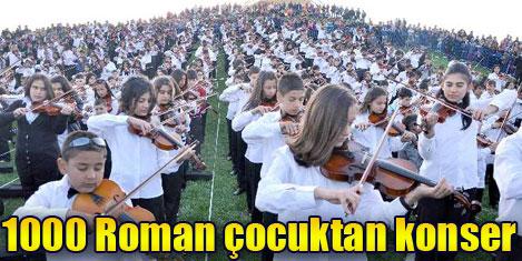 1000 Roman çocuktan konser
