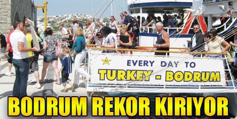 Bodrum Deniz kapısı'nda rekor