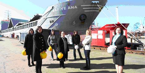Kadın denizciler İstanbul'a geliyor