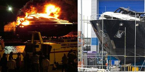 30 milyon TL'lik yatı, yıldırım yaktı