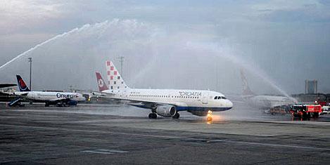 Hırvatistan uçağı İstanbul'da