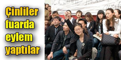 Türkler Çinlileri fuardan kaçırdı