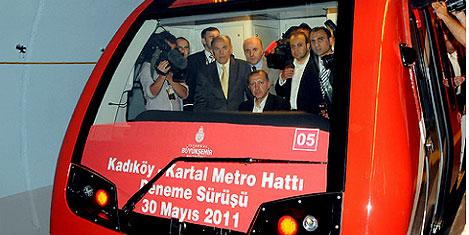 Kadıköy- Kartal metrosu testte