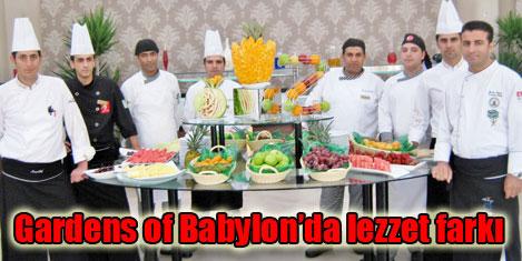 Gardens of Babylon'a yeni aşçıbaşı
